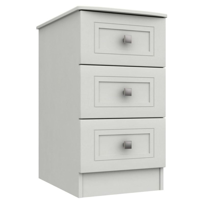 White-painted 3-drawer chest
