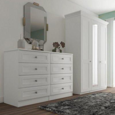 Harris white-painted bedroom furniture