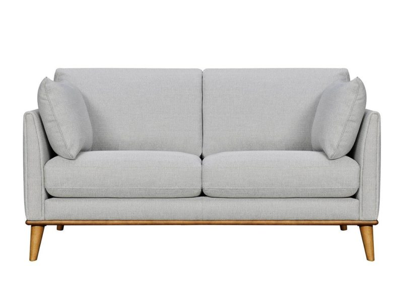 Grey fabric 2-seater sofa