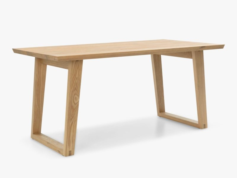 6-seater fixed length oak dining table