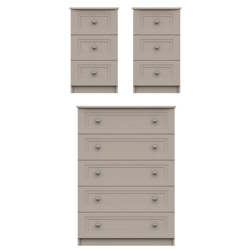 5-drawer chest and 2 x 3-drawer units