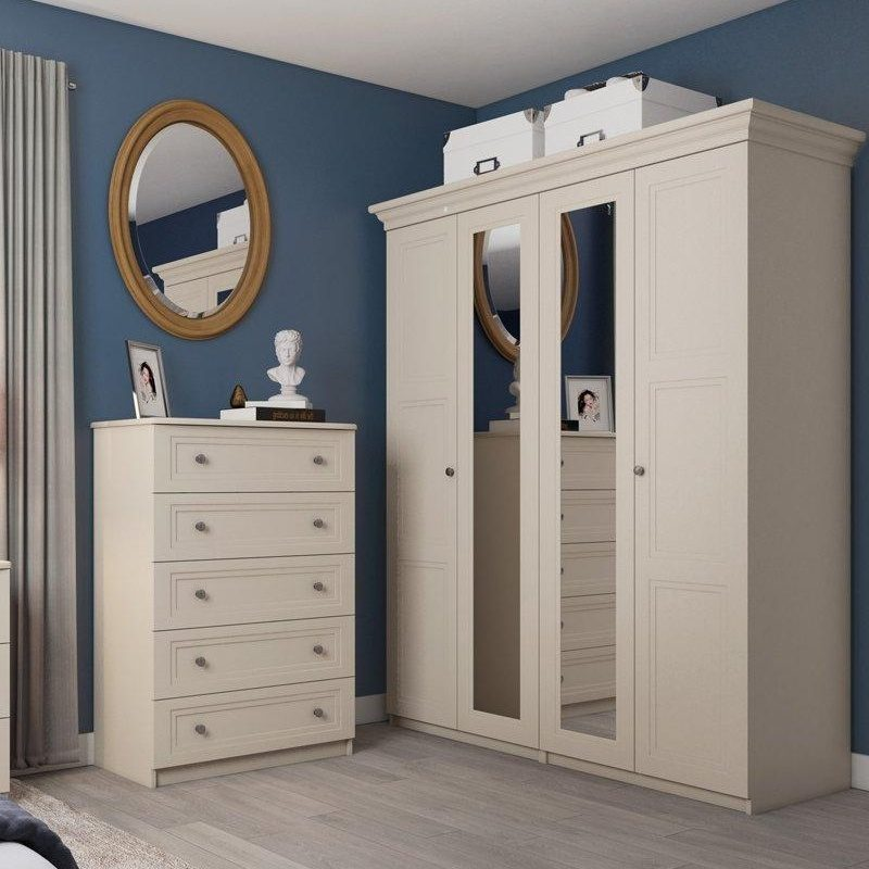 Taupe painted bedroom furniture