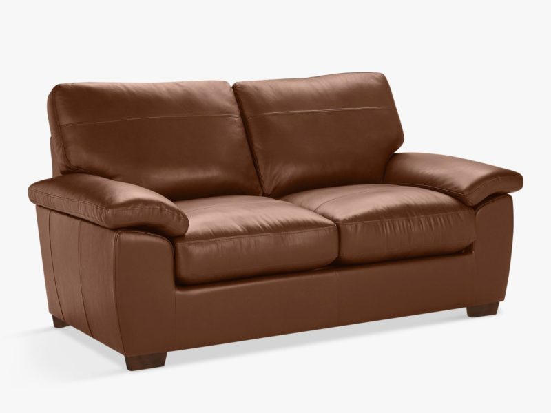Medium width leather 2-seater