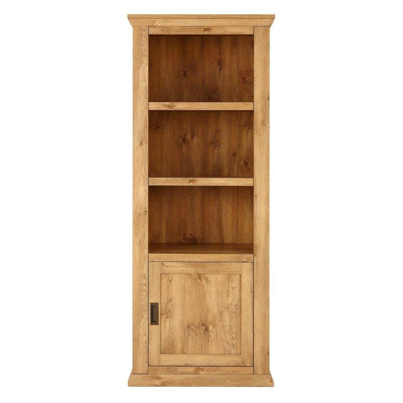 Tall oak display unit