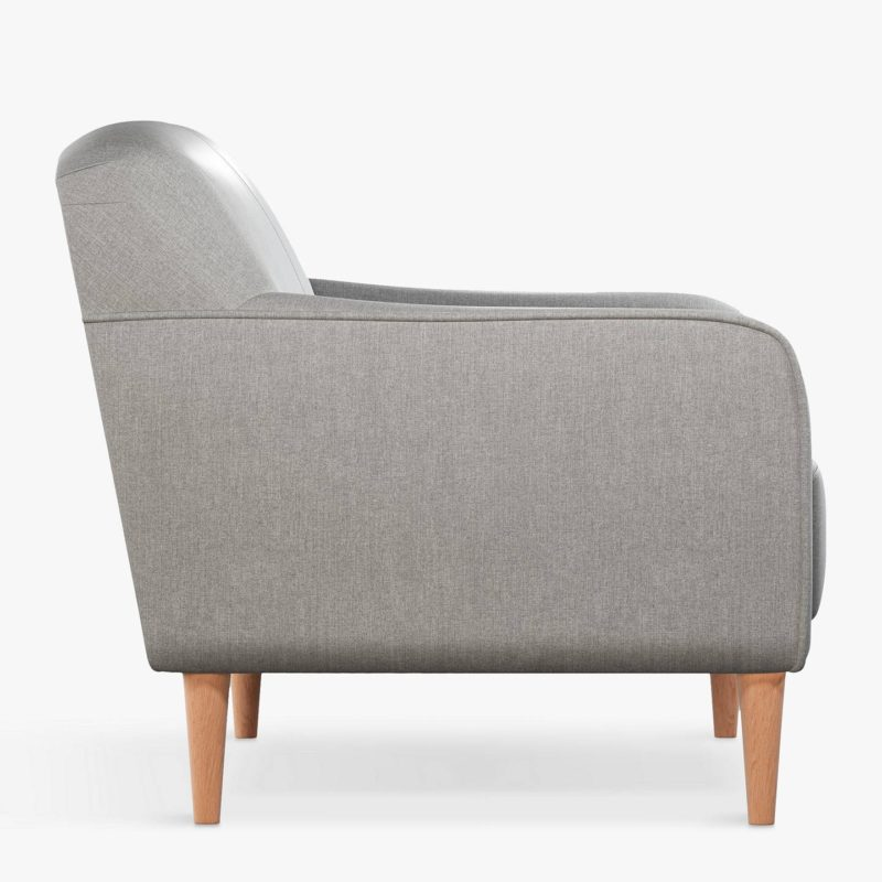 Minimalist grey fabric sofa