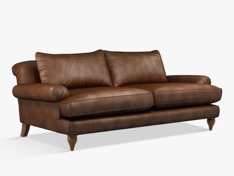 Large 4-seater leather sofa