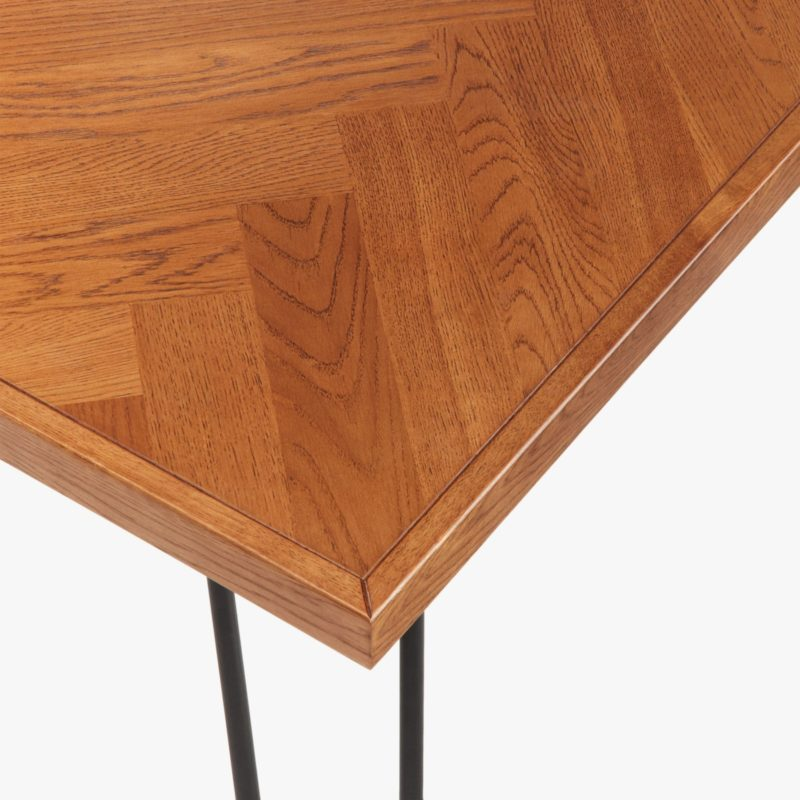 Lacquered oak dining table top