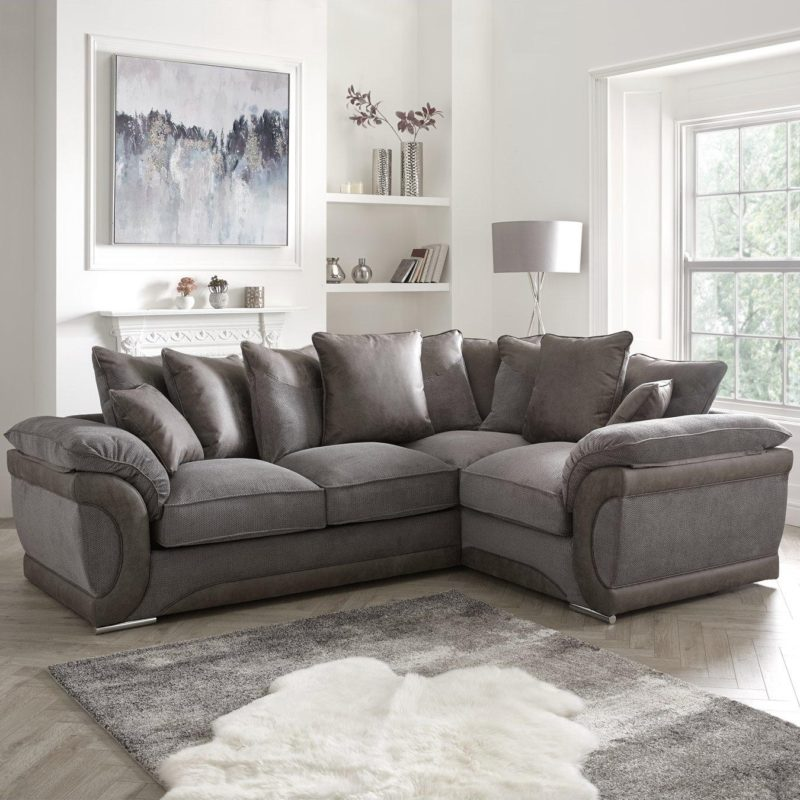Right-handed corner sofa with sofa bed