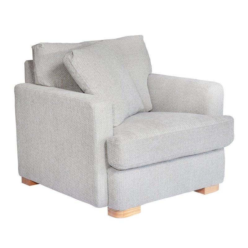Grey-fabric armchair