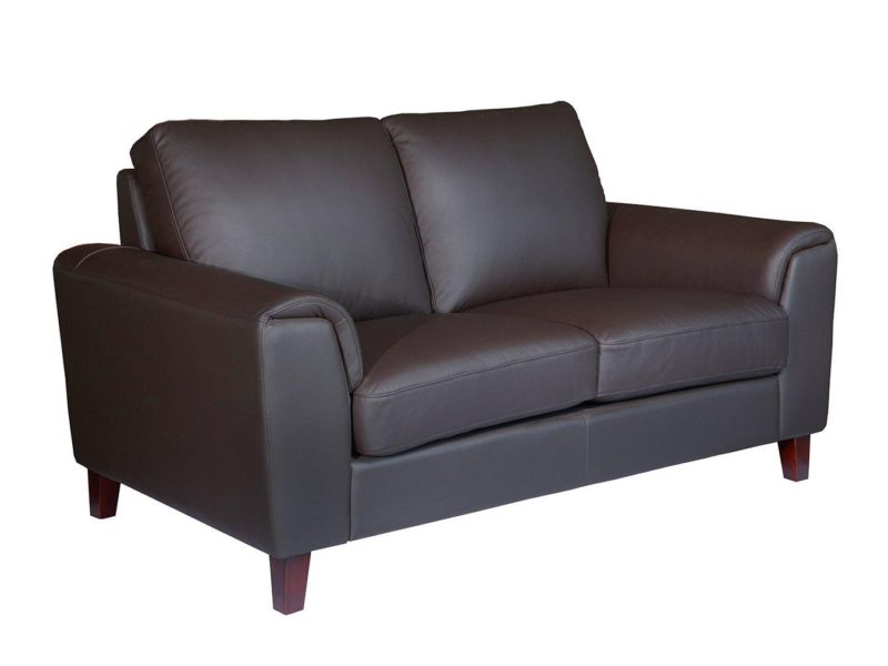 Chocolate leather 2-seater