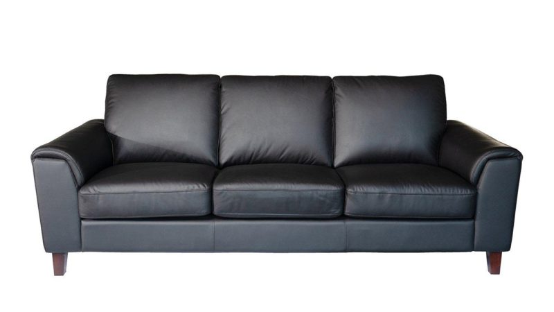 Black leather 4-seater