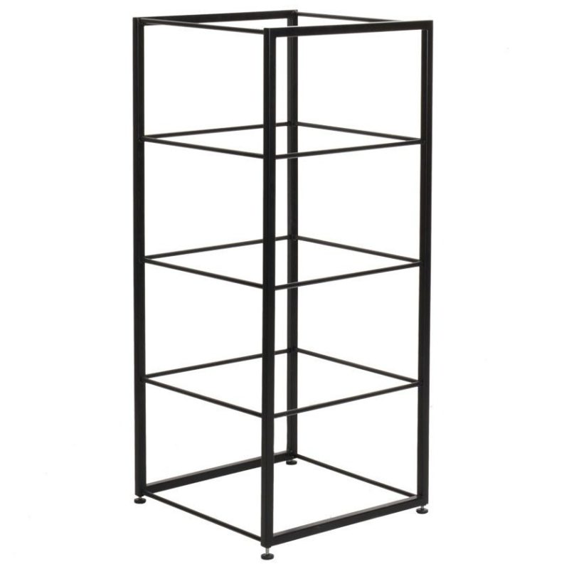 Short modular shelving unit