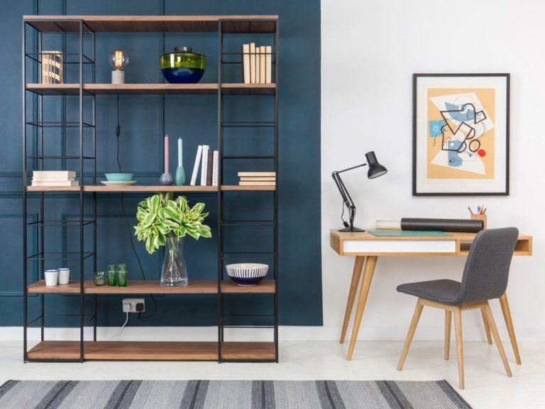 Modular home office shelving