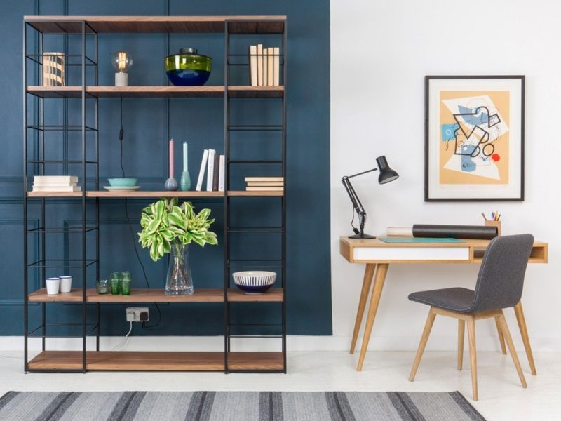 Modular home office shelving