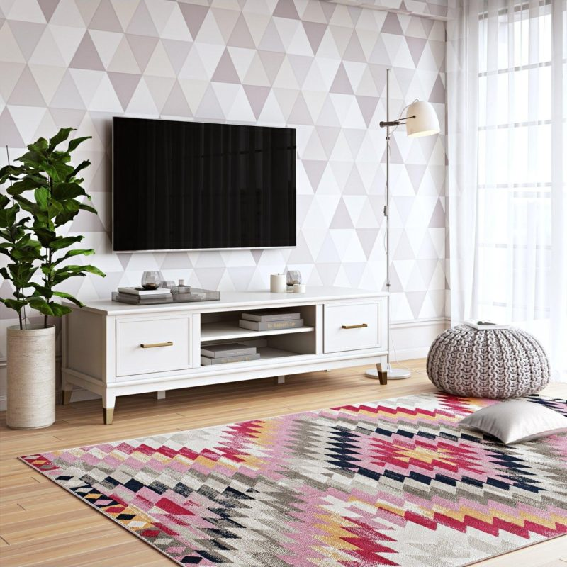 White-painted TV console