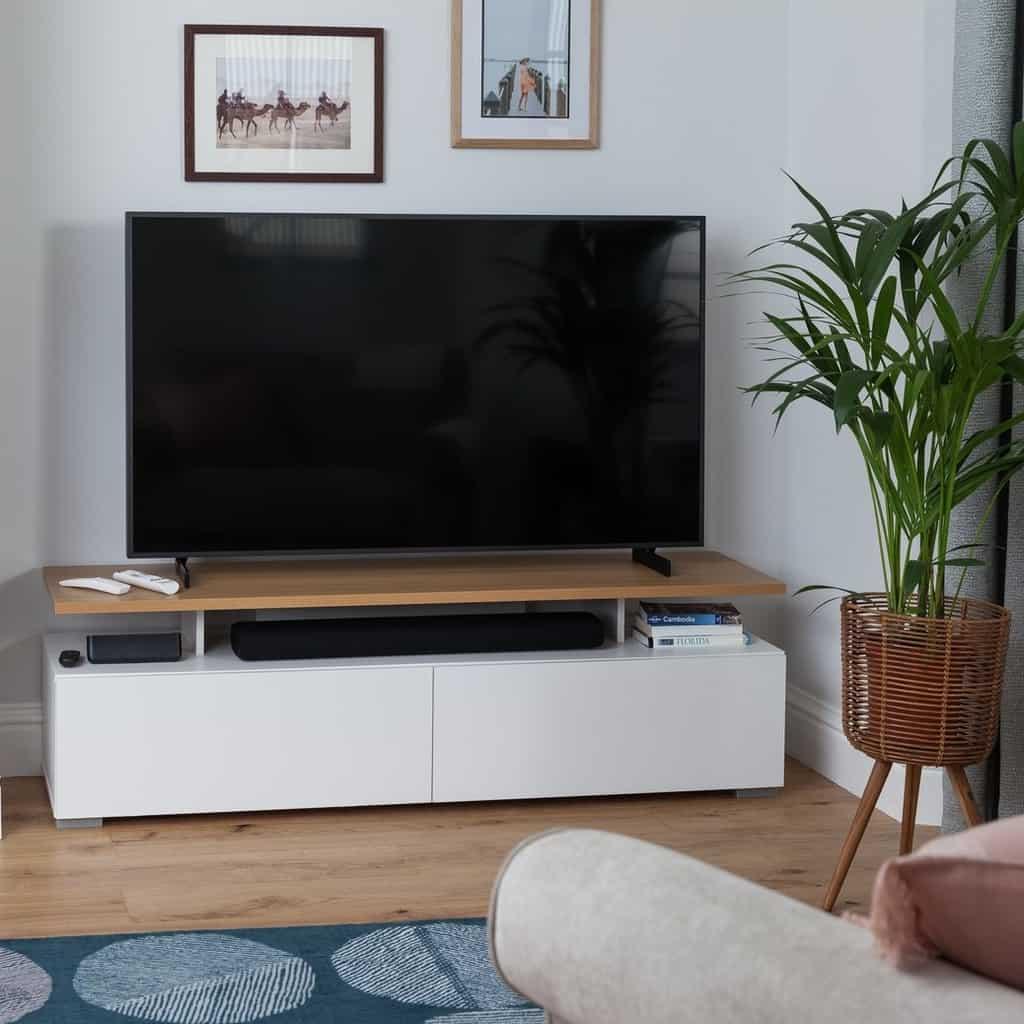 Floating shelf TV unit
