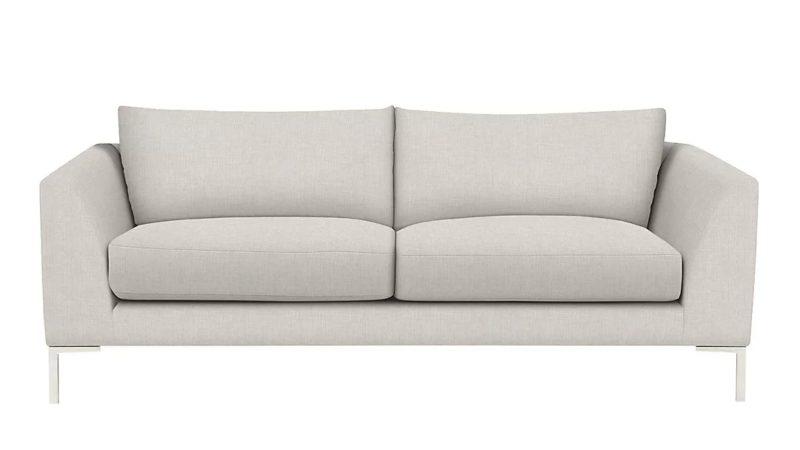 4-seater grey fabric sofa