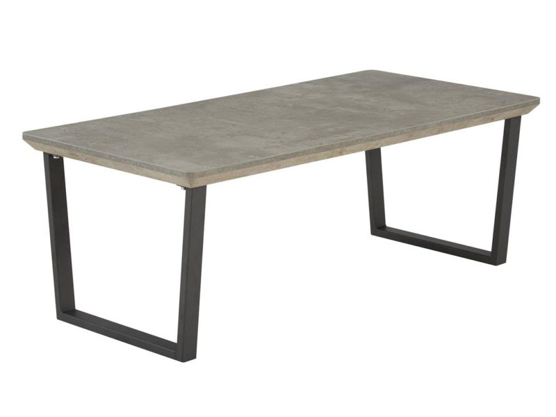 Coffee table with concrete-effect top