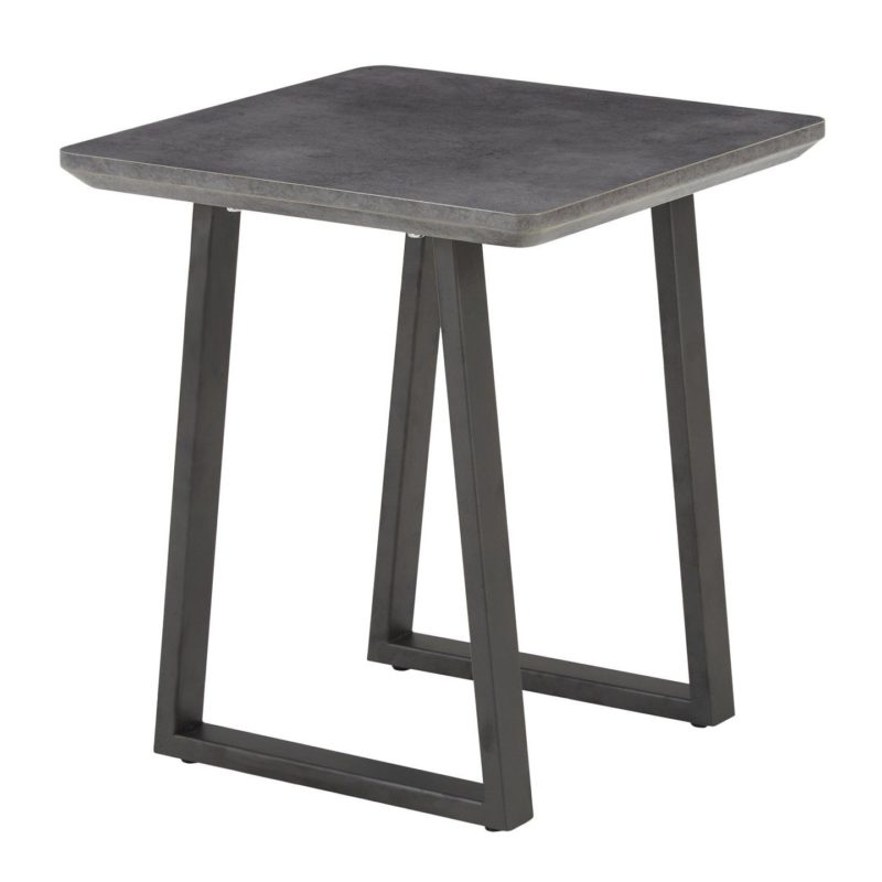Coffee table with concrete effect top
