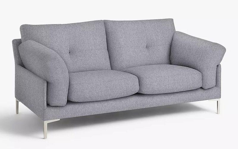 Small grey fabric sofa