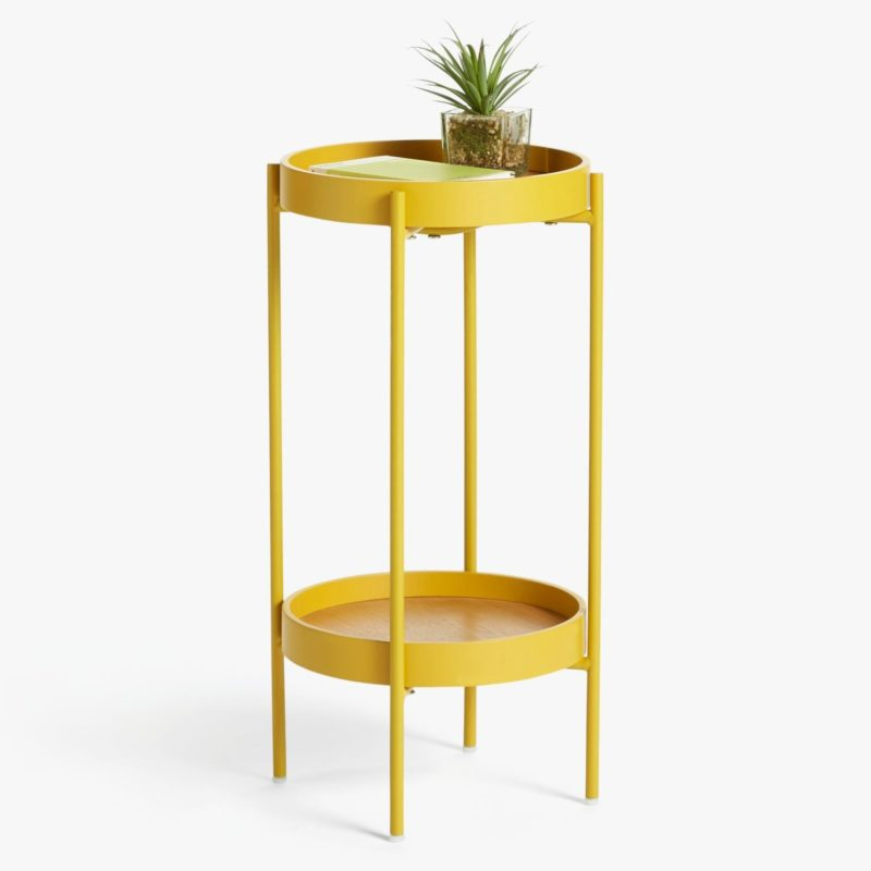 Mustard coloured side table