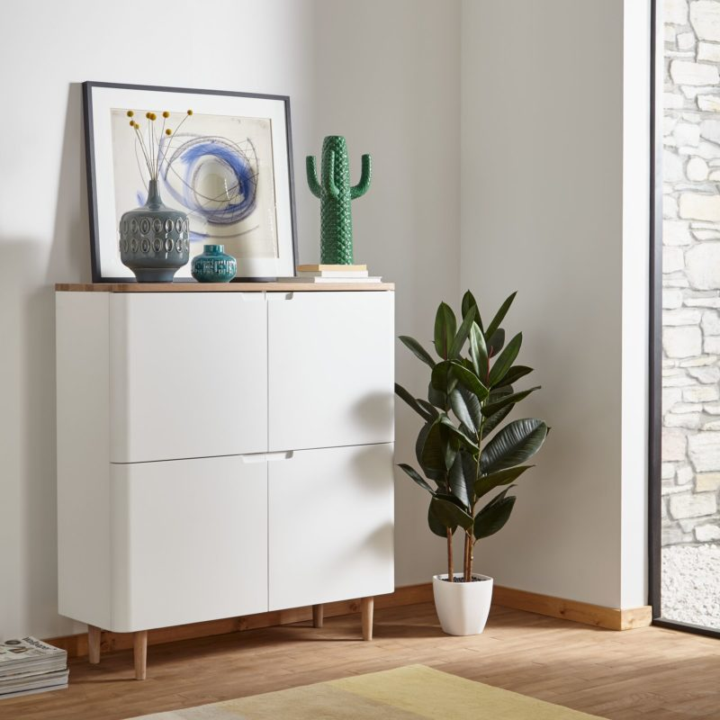 white 4 door sideboard