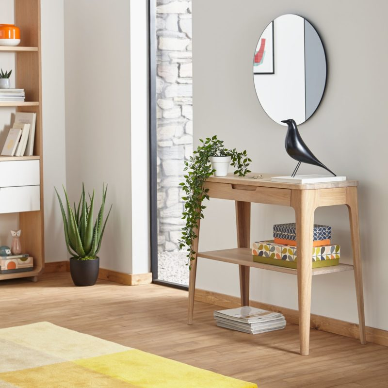 Designer oak console table