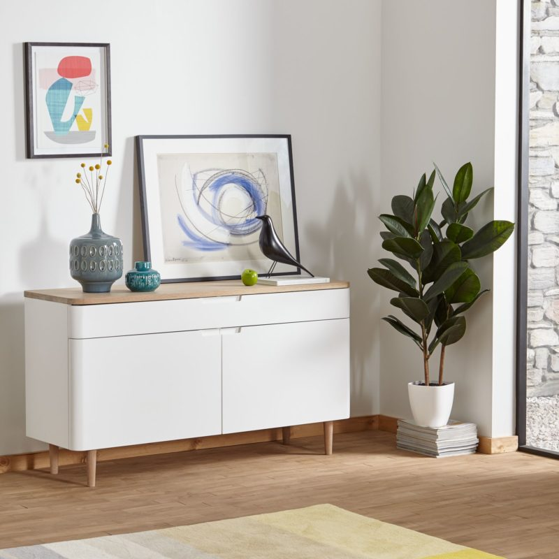 Large white designer sideboard
