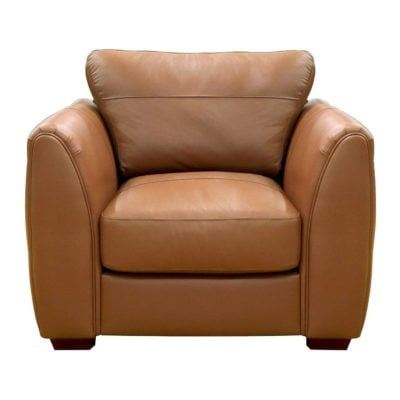 Tan leather armchair