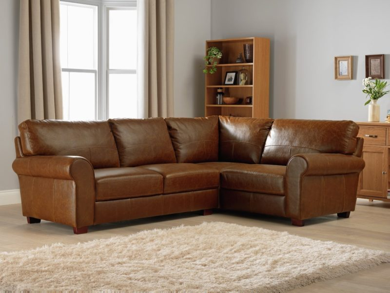 right-handed leather corner sofa
