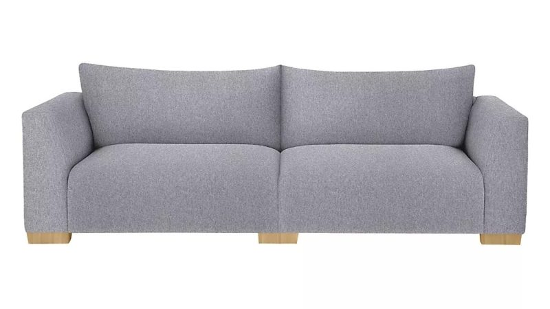 4-seater grey fabric sofa