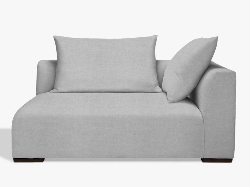 Grey modular corner unit