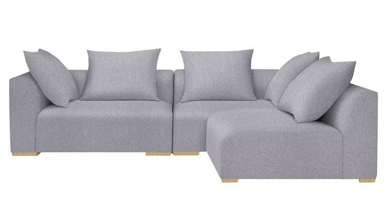 Grey fabric sofa corner group