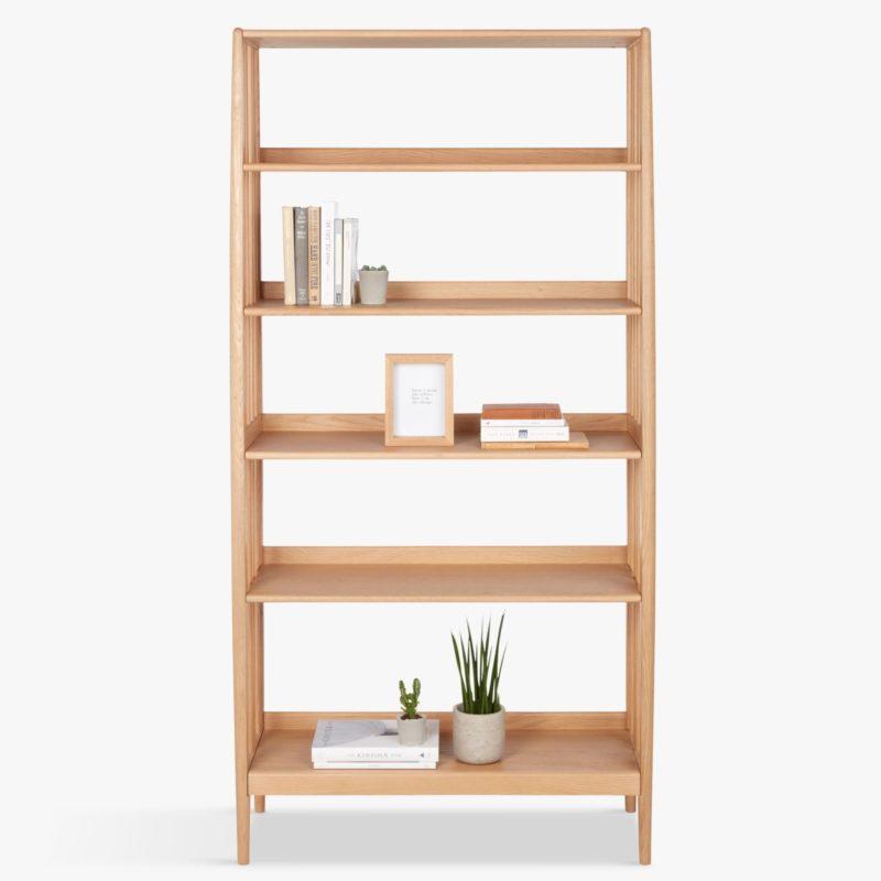 Oak 5-tier display shelf