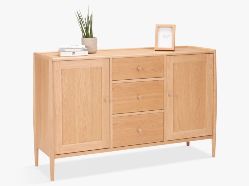 Oak sideboard with spindle legs