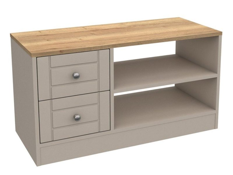 Taupe?oak TV Stand