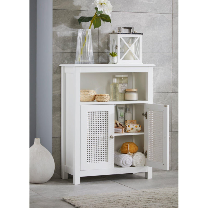 White bathroom cupboard unit