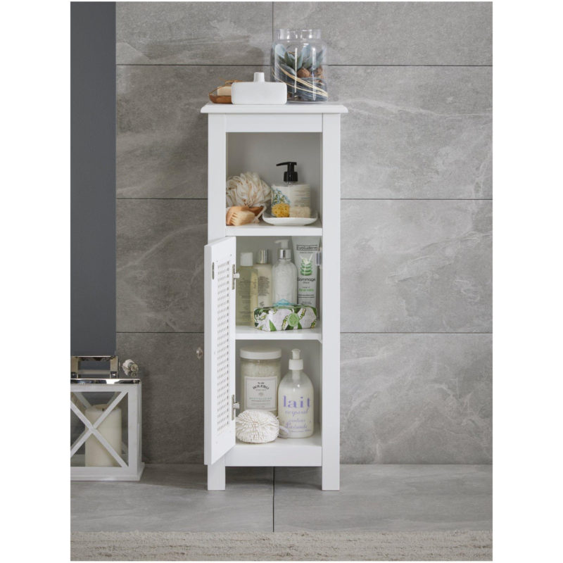 White single floor cabinet