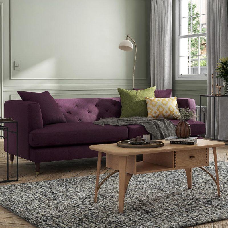 Plumb fabric sofa