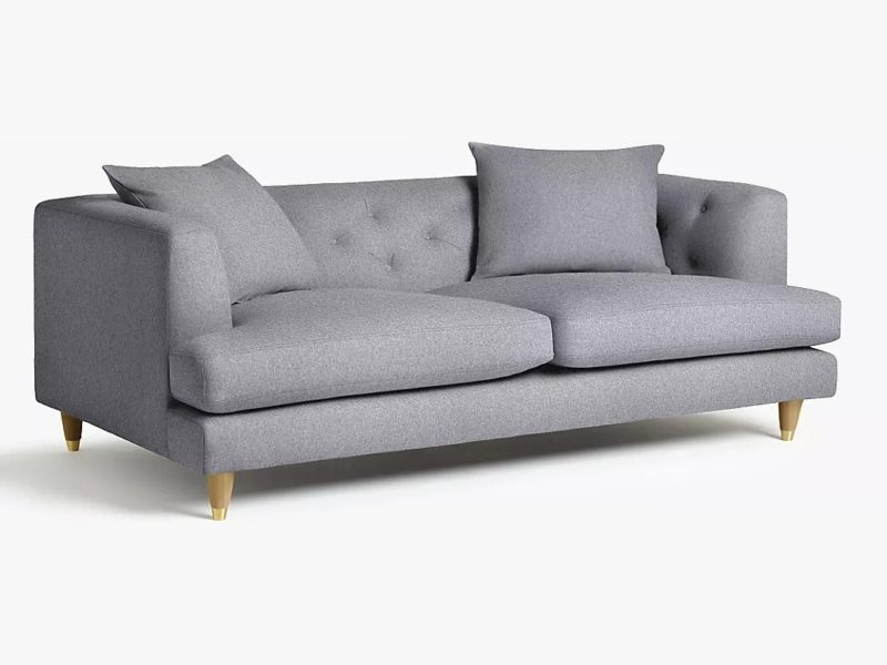 Wide Chesterfield-inspired sofa