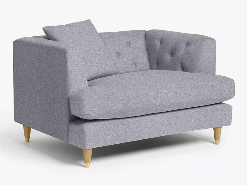 Contemporary Chesterfield inspired snuggler chair