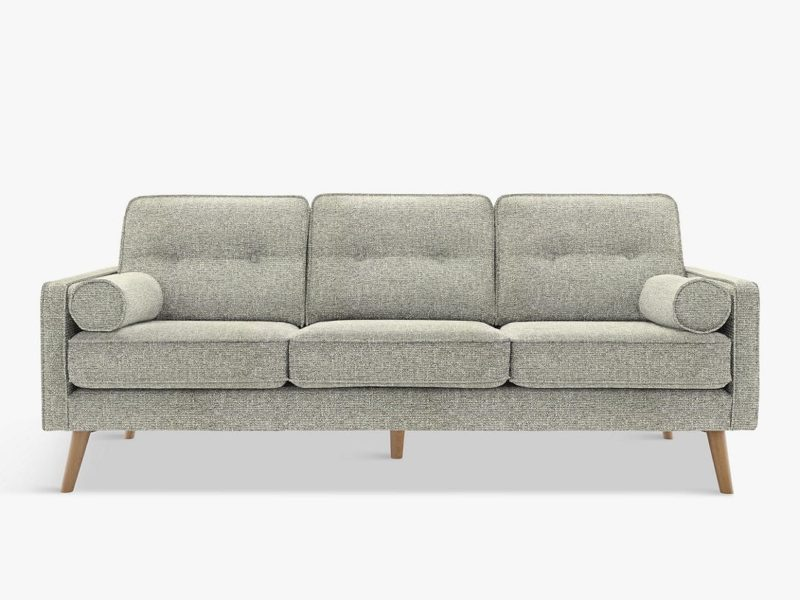 3-seater vintage inspired fabric sofa