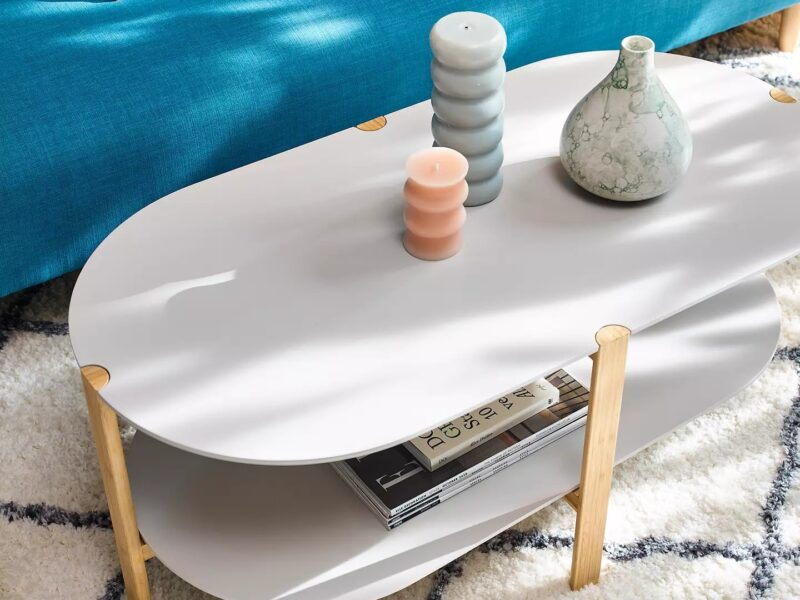 Rounded end coffee table