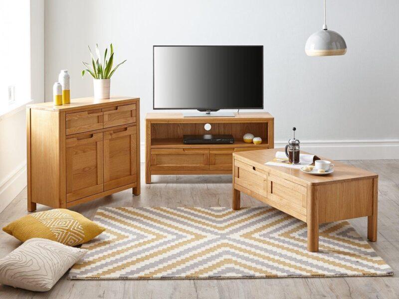 Contemporary oak storage furniture