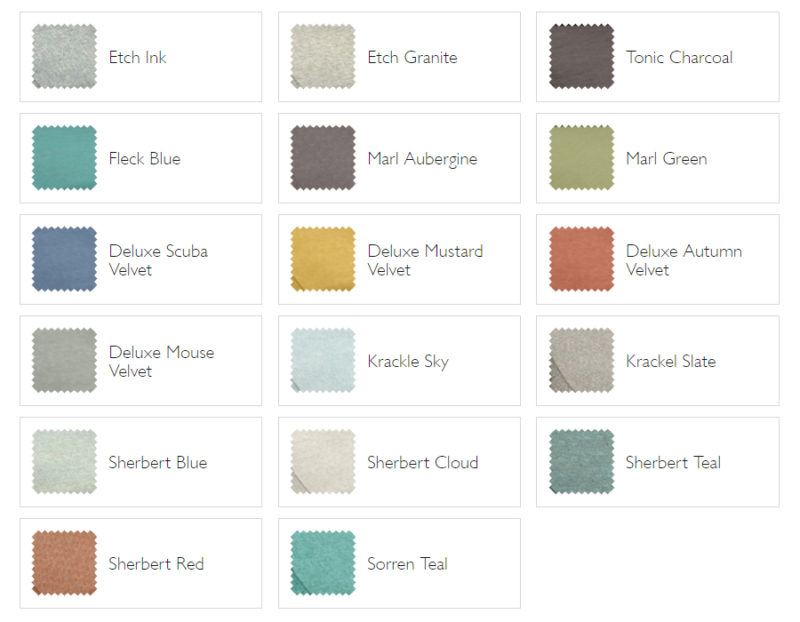 The Sixty Five Fabric Upholstery Options