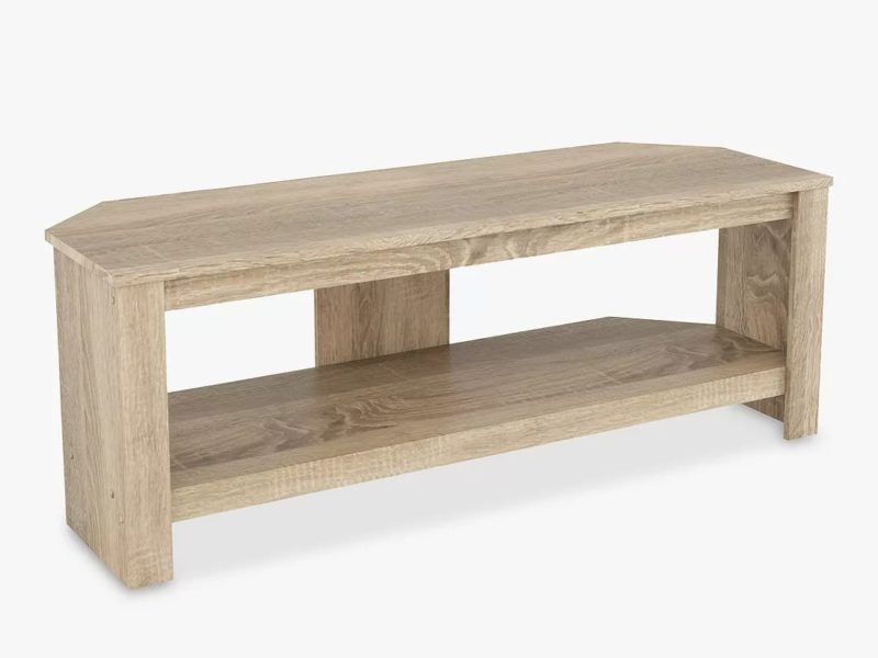 TV stand with sawn oak finish