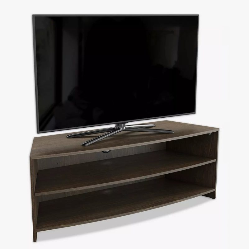 Walnut TV Stand with curved front