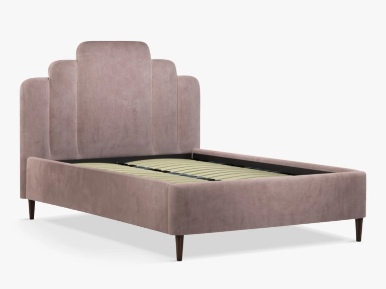 Double upholstered bed frame