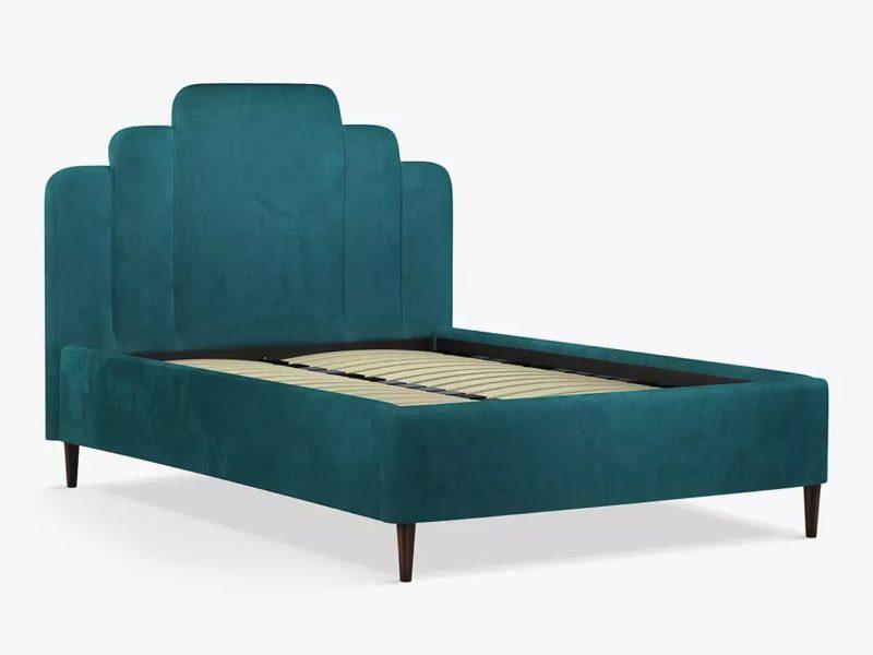 Teal upholstered bed frame