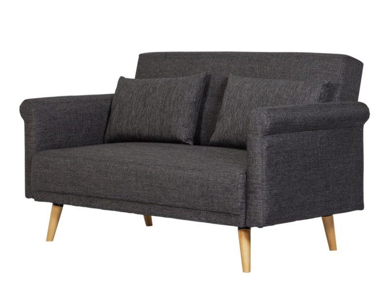 Dark grey fabric sofa